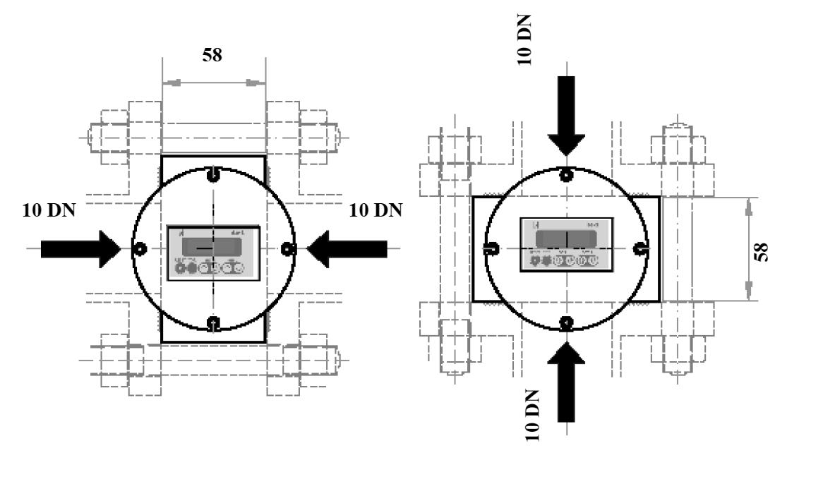 D-EL s prikazovalnikom - Prirobnični priključek dimenzije