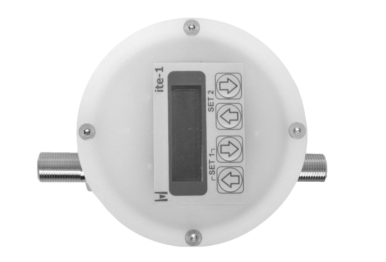 Der Durchflussmesser G 50-D / G 60-D Anzeige